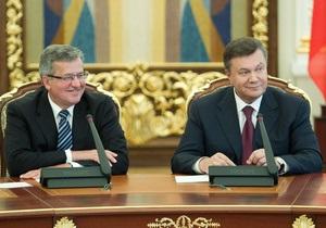 Украина-Польша - Янукович - Коморовский - Янукович и Коморовский встретятся во время саммита в Братиславе