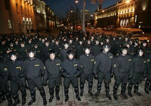 Белорусская милиция опровергла сообщение о стягивании дополнительных сил в Минск