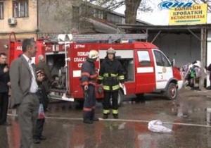 Новости Симфирополя - пожар в Симфмрополе - рынок Таврия - магазин тканей Шуман