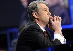 Ющенко принял отставку губернатора Харьковской области