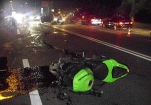 На выходных в столице произошло четыре ДТП с участием мотоциклистов