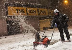 На северо-восток США обрушились сильные снегопады
