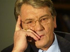 Ющенко выразил соболезнования семьям погибших горняков