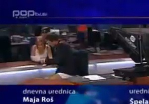 Словенский телеведущий провел эфир без штанов