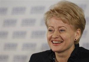 Президент Литвы обогнала по популярности лидеров Франции, Италии и Великобритании