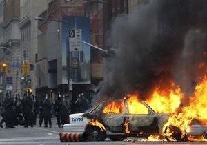 Антиглобалисты устроили беспорядки во время саммита G20