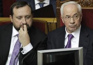 Отпуск Азарова дал возможность Арбузову попробовать себя на посту главы Кабмина