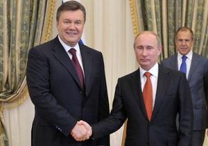 Сегодня Янукович встретится с Путиным в Сочи
