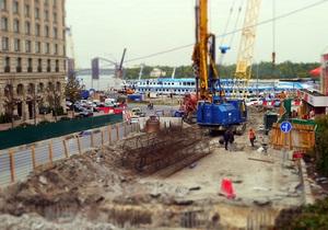 новости Киева - Почтовая площадь - реконструкция Почтовой площади - Открытие части подземного тоннеля на Почтовой площади отложено