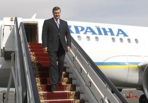 Янукович совершит турне по странам Юго-Восточной Азии
