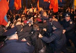 В Севастополе произошли столкновения во время митинга ВО Свобода