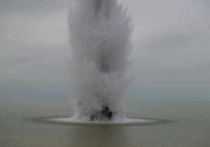 В Крыму в Черном море обезвредили донную мину весом около тонны