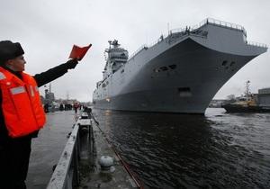 СМИ: Франция продает России вертолетоносцы в обмен на санкции против Ирана