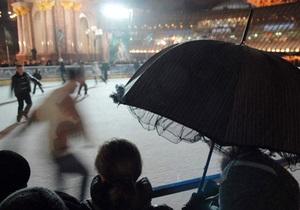 Каток в центре Киева демонтируют на следующей неделе