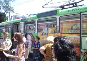 МВД: Инцидент в днепропетровском трамвае произошел из-за воспламенения пороха