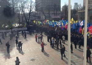 новости Киева - Кличко - митинг - оппозиция - выборы мэра Киева - Поговорите с людьми: Кличко призвал Рыбака и Ефремова выйти к митингующим