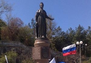 Пророссийские силы Крыма требуют восстановить в Симферополе памятник Екатерине II