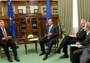 Янукович поговорил с европейскими дипломатами о деле Тимошенко