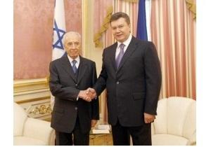 Перес поблагодарил Януковича за теплый прием: Для нас Украина - это история. Евреи жили здесь тысячи лет