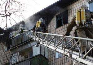 В Симферополе из-за взрыва и пожара в квартире пенсионер выпал с пятого этажа