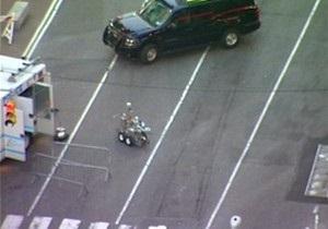 В загоревшемся в центре Нью-Йорка авто найдена взрывчатка