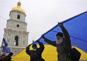 В Киеве на Майдане Незалежности реконструируют флагшток