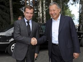Завтра Медведев и Бакиев обсудят вопрос о создании новой военной базы в Кыргызстане