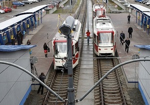 Городская электричка - трамвай на Троещине