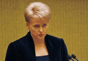 Президент Литвы обвинила белорусскую оппозицию в алчности и дружбе с Россией