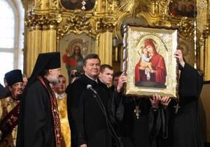 Янукович проведет Рождество в Почаеве