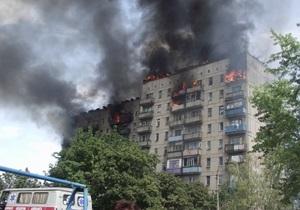 Пожар в Енакиево: семь человек пострадали, 42 отселены