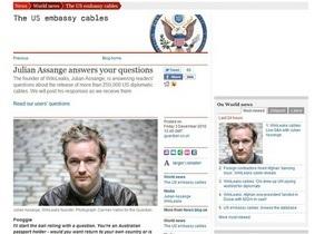 Сайт Guardian не выдержал наплыва желающих задать вопрос основателю WikiLeaks