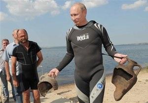 Глина кагбэ немножко намокает: Блогеры жестко раскритиковали Путина, доставшего древние амфоры со дна залива