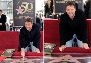 Рассел Кроу получил звезду на Аллее славы в Голливуде