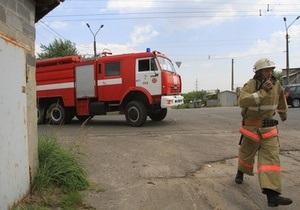 В киевском гаражном кооперативе произошел пожар
