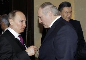 Янукович встретился с Путиным и Лукашенко