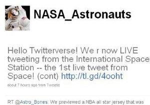 Астронавт с МКС написал первый в истории человечества пост в Twitter из космоса