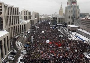 Российская оппозиция подала заявку на 50-тысячное шествие в Москве