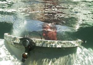 Фотогалерея: Маленькая, да удаленькая. Самая миниатюрная подводная лодка в Украине