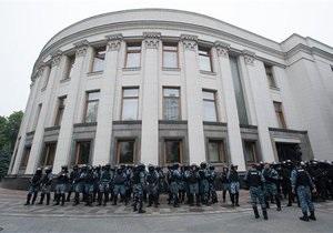 МВД усилило охрану здания Верховной Рады