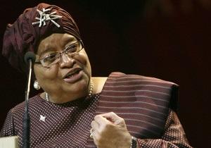 В Либерии лауреат Нобелевской премии избрана на второй президентский срок
