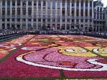 На главной площади Брюсселя выложен ковер из бегоний