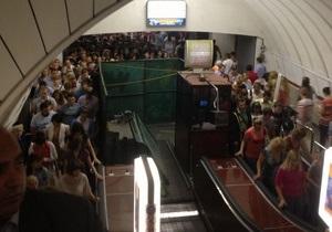На одном из пересадочных узлов киевского метро образовалась давка из-за ремонта эскалатора
