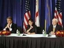 Ющенко встретился с Маккейном и Пэлин