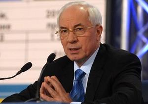Азаров: Украина за три морозных дня потребила рекордный объем газа