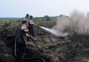 В Коблево вблизи баз отдыха начался пожар