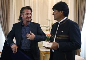 Боливия предложила Шону Пенну стать почетным послом по легализации коки