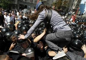 Митинг под Украинским домом будет продолжаться до отмены языкового закона