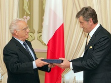 Президенты Мальты и Украины обменялись наградами