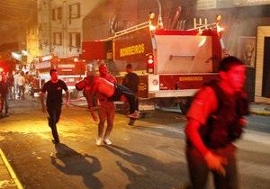 В бразильском городе загорелась карнавальная платформа. Погибли четыре человека